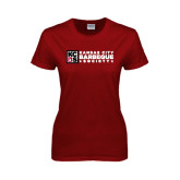 Ladies Cardinal T Shirt-Kansas City Barbeque Society Flat