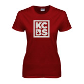 Ladies Cardinal T Shirt-KCBS