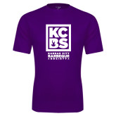 Performance Purple Tee-Kansas City Barbeque Society