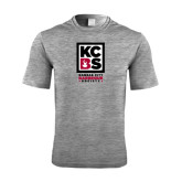 Performance Grey Heather Contender Tee-Kansas City Barbeque Society