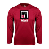Syntrel Performance Cardinal Longsleeve Shirt-Kansas City Barbeque Society