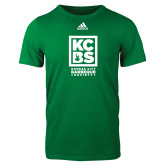 Adidas Kelly Green Logo T Shirt-Kansas City Barbeque Society