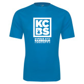 Performance Light Blue Tee-Kansas City Barbeque Society