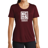 Ladies Syntrel Performance Maroon Tee-Kansas City Barbeque Society