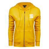 ENZA Ladies Gold Fleece Full Zip Hoodie-KCBS
