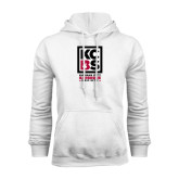 White Fleece Hoodie-Kansas City Barbeque Society