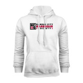 White Fleece Hoodie-Kansas City Barbeque Society Flat