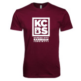 Next Level SoftStyle Maroon T Shirt-Kansas City Barbeque Society