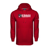 Under Armour Cardinal Performance Sweats Team Hoodie-Kansas City Barbeque Society Flat