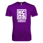 Next Level SoftStyle Purple T Shirt-Kansas City Barbeque Society