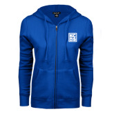 ENZA Ladies Royal Fleece Full Zip Hoodie-KCBS