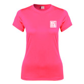 Ladies Performance Hot Pink Tee-KCBS