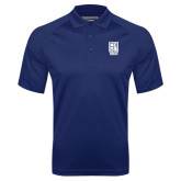 Navy Textured Saddle Shoulder Polo-Kansas City Barbeque Society