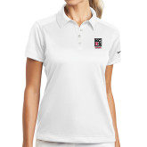 Ladies Nike Dri Fit White Pebble Texture Sport Shirt-Kansas City Barbeque Society