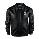 Black Leather Bomber Jacket-Kansas City Barbeque Society