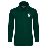 Ladies Fleece Full Zip Dark Green Jacket-Kansas City Barbeque Society