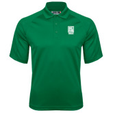 Kelly Green Textured Saddle Shoulder Polo-Kansas City Barbeque Society