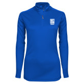 Ladies Syntrel Interlock Royal 1/4 Zip-Kansas City Barbeque Society