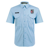 Light Blue Short Sleeve Performance Fishing Shirt-KCBS Certified Barbecue Judge