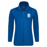 Ladies Fleece Full Zip Royal Jacket-Kansas City Barbeque Society