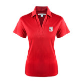 Ladies Red Performance Fine Jacquard Polo-KCBS Contest Rep
