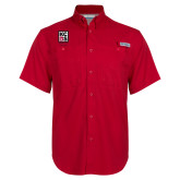 Columbia Bonehead Red Short Sleeve Shirt-Kansas City Barbeque Society