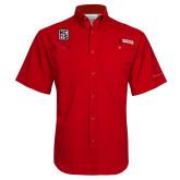 Columbia Tamiami Performance Red Short Sleeve Shirt-Kansas City Barbeque Society