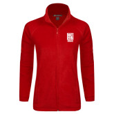 Ladies Fleece Full Zip Red Jacket-Kansas City Barbeque Society
