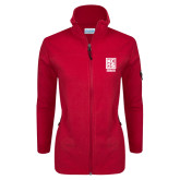 Columbia Ladies Full Zip Red Fleece Jacket-Kansas City Barbeque Society