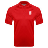 Red Textured Saddle Shoulder Polo-Kansas City Barbeque Society