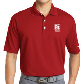 Nike Golf Dri Fit Red Micro Pique Polo-Kansas City Barbeque Society