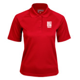Ladies Red Textured Saddle Shoulder Polo-Kansas City Barbeque Society