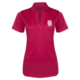 Ladies Pink Raspberry Silk Touch Performance Polo-Kansas City Barbeque Society