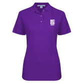 Ladies Easycare Purple Pique Polo-Kansas City Barbeque Society