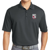 Nike Golf Dri Fit Charcoal Micro Pique Polo-Kansas City Barbeque Society