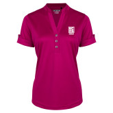 Ladies Ogio Deep Berry Fashion Henley-Kansas City Barbeque Society