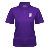 Ladies Purple Dry Mesh Polo-Kansas City Barbeque Society
