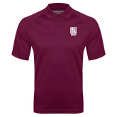 Maroon Textured Saddle Shoulder Polo-Kansas City Barbeque Society