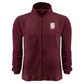Fleece Full Zip Maroon Jacket-Kansas City Barbeque Society