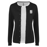 Ladies Black Cardigan-Kansas City Barbeque Society
