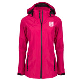 Ladies Dark Fuchsia Waterproof Jacket-Kansas City Barbeque Society