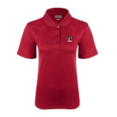 Ladies Cardinal Dry Mesh Polo-Kansas City Barbeque Society