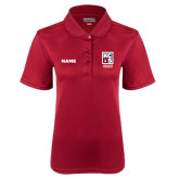 Ladies Cardinal Dry Mesh Polo-KCBS Certified Barbecue Judge