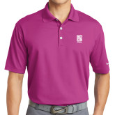 Nike Golf Dri Fit Fusion Pink Micro Pique Polo-Kansas City Barbeque Society