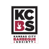 Small Magnet-Kansas City Barbeque Society, 6in tall