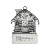 Pewter House Ornament-Kansas City Barbeque Society Flat Engraved