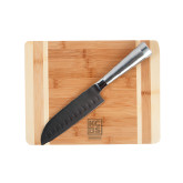 Oneida Cutting Board and Santoku Knife Set-Kansas City Barbeque Society Engraved