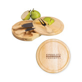 7.5 Inch Brie Circular Cutting Board Set-Kansas City Barbeque Society Wordmark Engraved
