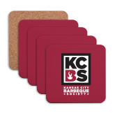 Hardboard Coaster w/Cork Backing 4/set-Kansas City Barbeque Society