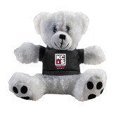 Plush Big Paw 8 1/2 inch White Bear w/Black Shirt-Kansas City Barbeque Society